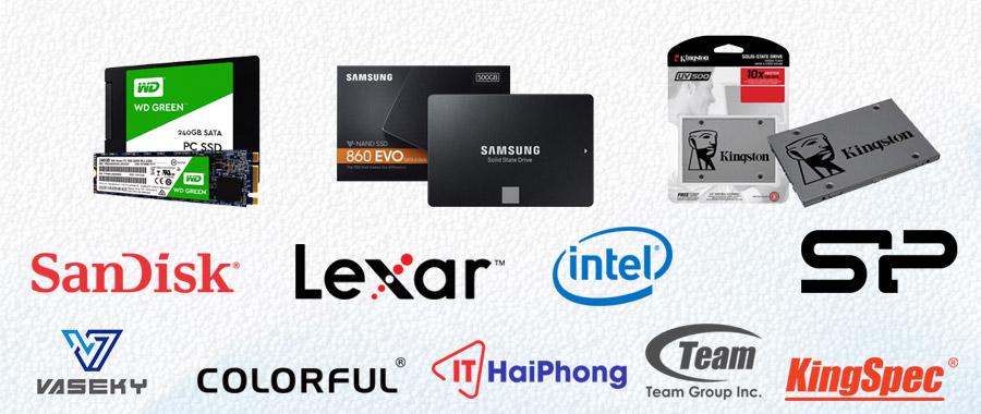 Các thương hiệu SSD nổi tiếng