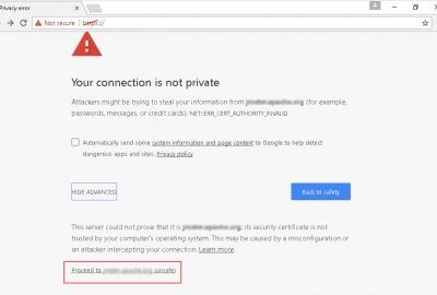 Lỗi cảnh báo kết nối không an toàn