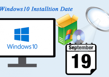 Check windows install date