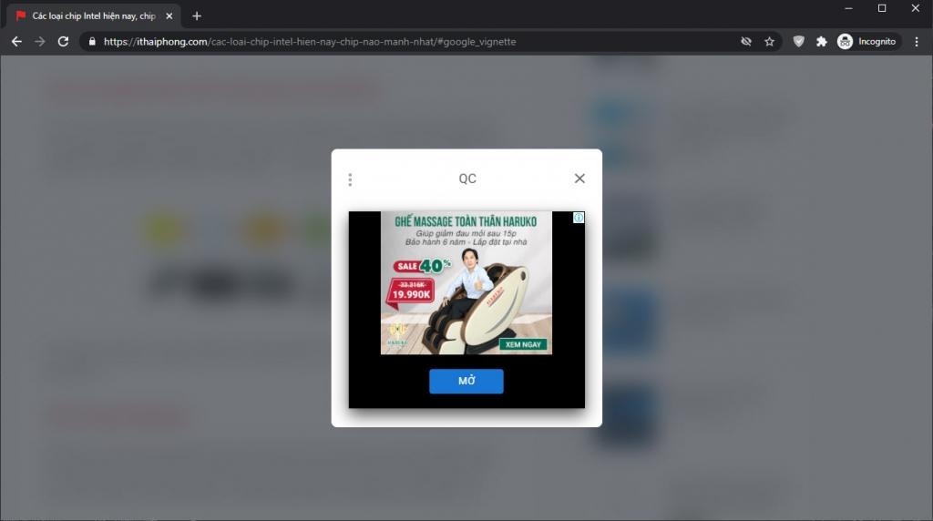 Quảng cáo Adsense giữa các lần tải trang